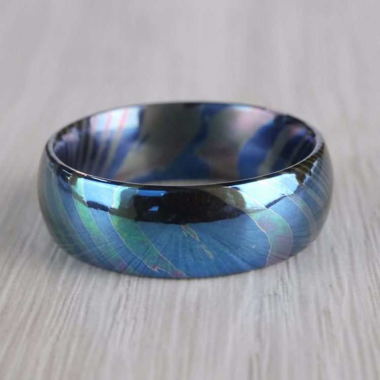 Seikon - Dome Moku-Ti Mens Wedding Ring | 04
