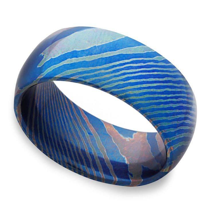 Seikon - Dome Moku-Ti Mens Wedding Ring | 01