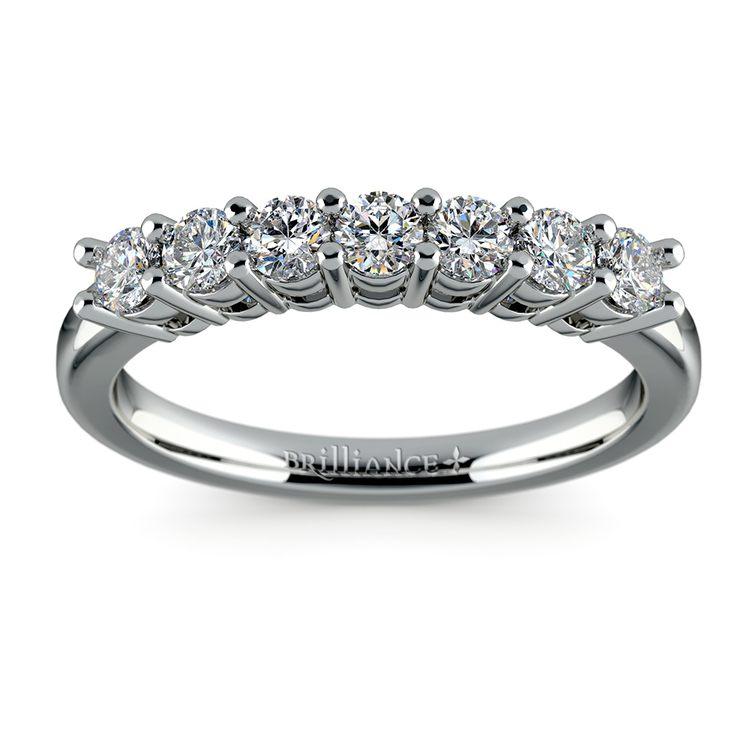 Seven Diamond Wedding Ring in Platinum (1/2 ctw) | 02