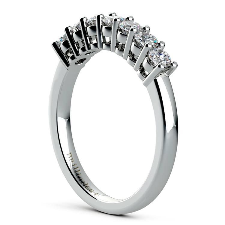 Seven Diamond Wedding Ring in Platinum (1/2 ctw) | 04