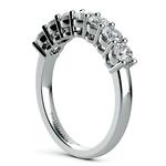 Seven Diamond Wedding Ring in White Gold (1 ctw) | Thumbnail 04
