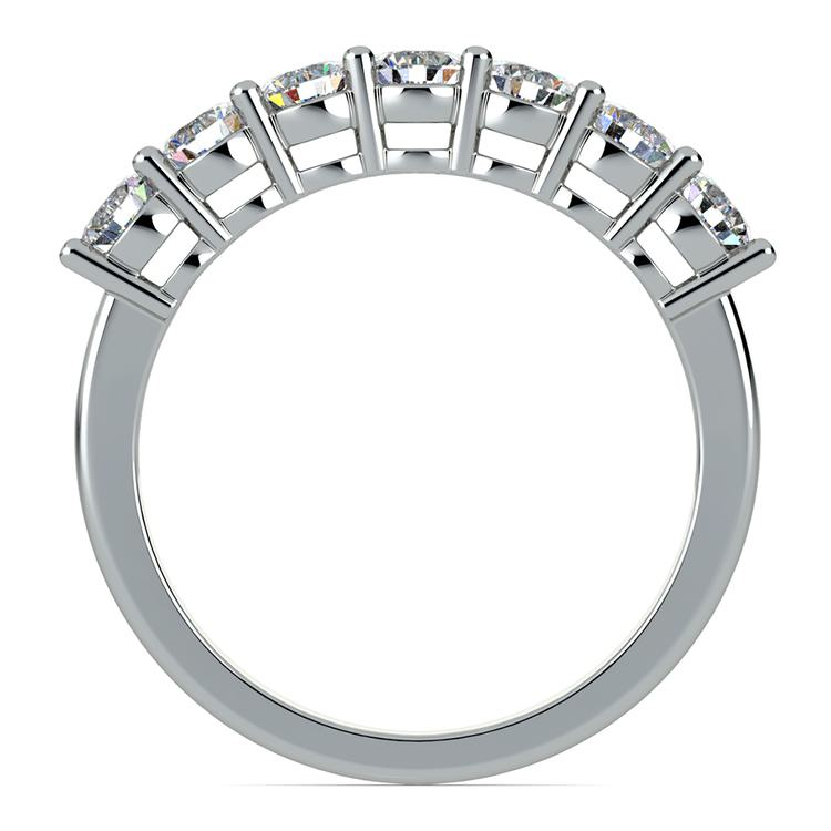 Seven Diamond Wedding Ring in White Gold (1 ctw) | 03