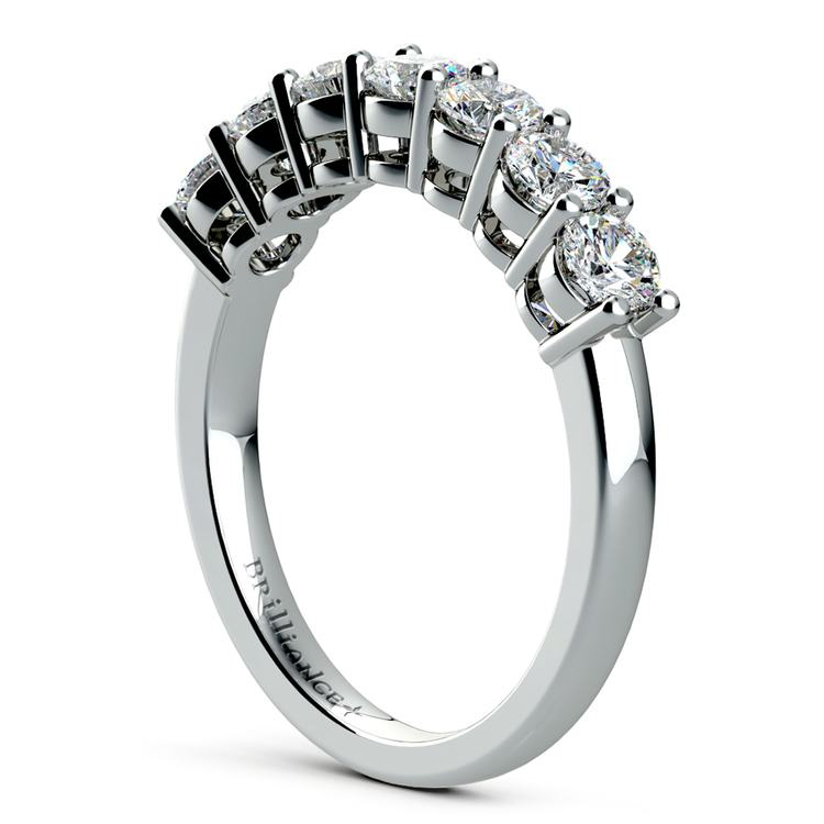 Seven Diamond Wedding Ring in White Gold (1 ctw) | 04