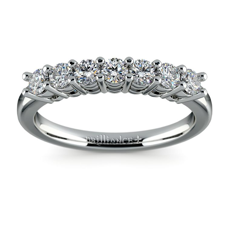 Seven Diamond Wedding Ring in White Gold (1/2 ctw) | 02