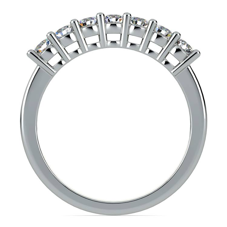 Seven Diamond Wedding Ring in White Gold (1/2 ctw) | 03