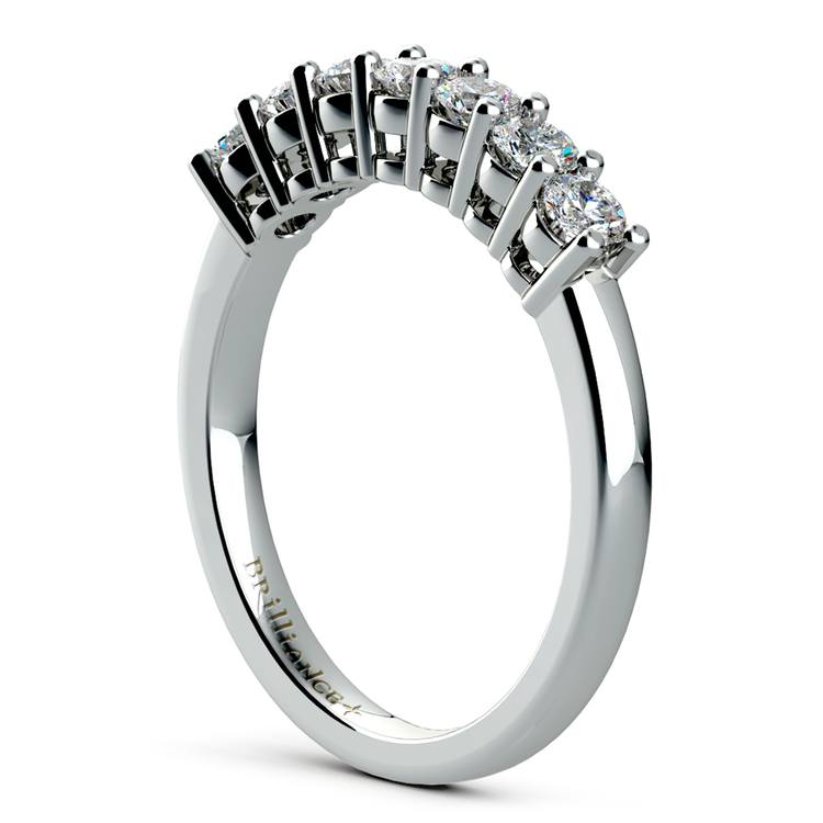 Seven Diamond Wedding Ring in White Gold (1/2 ctw) | 04