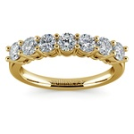 Seven Diamond Wedding Ring in Yellow Gold (1 ctw) | Thumbnail 02