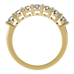 Seven Diamond Wedding Ring in Yellow Gold (1 ctw) | Thumbnail 03