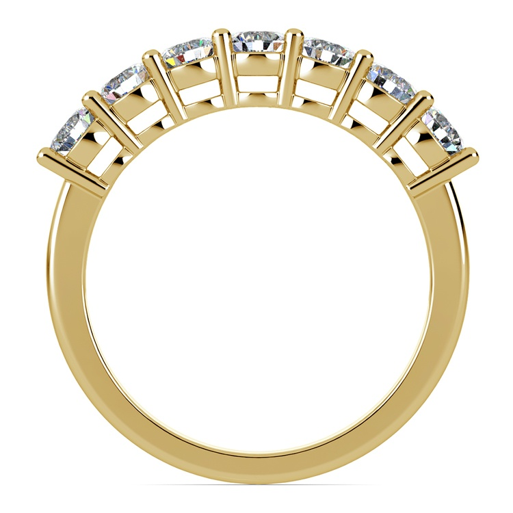 Seven Diamond Wedding Ring in Yellow Gold (1 ctw) | 03