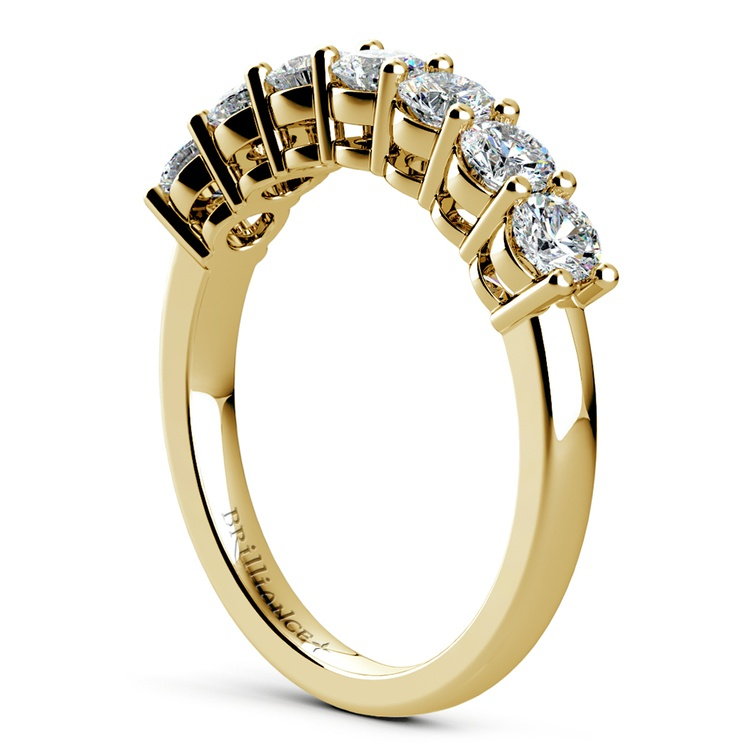 Seven Diamond Wedding Ring in Yellow Gold (1 ctw) | 04