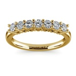 Seven Diamond Wedding Ring in Yellow Gold (1/2 ctw) | Thumbnail 02