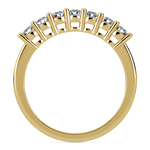 Seven Diamond Wedding Ring in Yellow Gold (1/2 ctw) | Thumbnail 03
