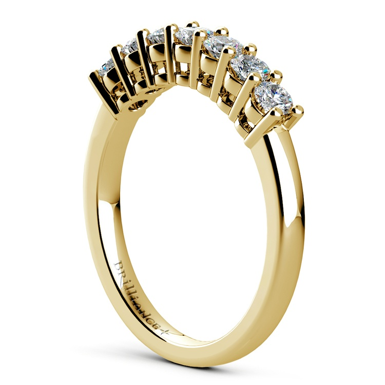 Seven Diamond Wedding Ring in Yellow Gold (1/2 ctw) | 04