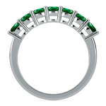 Seven Emerald Gemstone Ring in White Gold  | Thumbnail 03