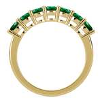 Seven Emerald Gemstone Ring in Yellow Gold | Thumbnail 03