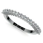 Shared Prong Diamond Wedding Ring in Palladium | Thumbnail 01
