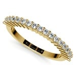 Closed Gallery Diamond Wedding Ring in Yellow Gold | Thumbnail 01