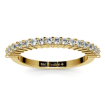 Closed Gallery Diamond Wedding Ring in Yellow Gold | Thumbnail 02