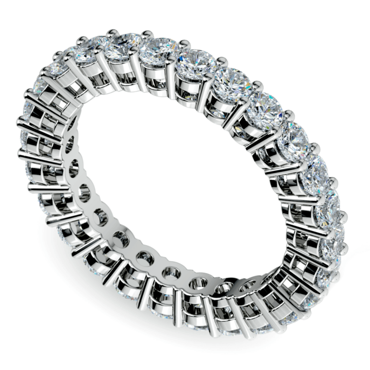 Diamond Eternity Band in White Gold (2 ctw) | 01