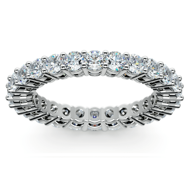 Diamond Eternity Band in White Gold (2 ctw) | 02