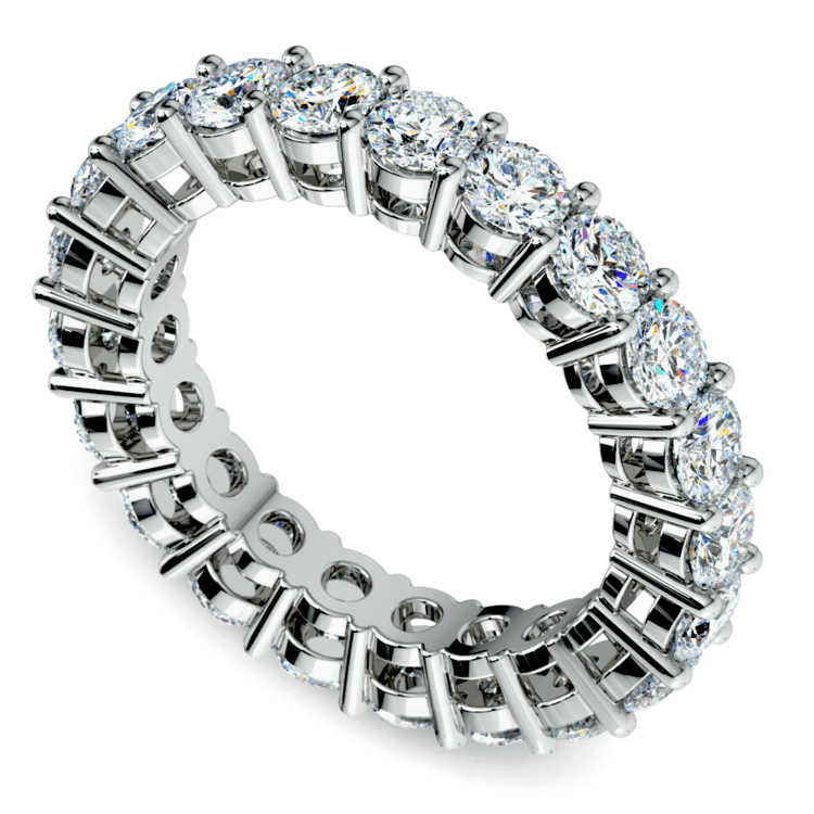 Diamond Eternity Band in White Gold (3 ctw) | 01