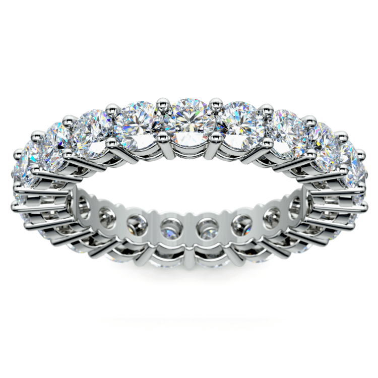 Diamond Eternity Band in White Gold (3 ctw) | 02