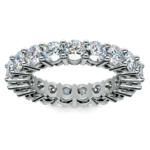 Diamond Eternity Ring in White Gold (4 ctw) | Thumbnail 02