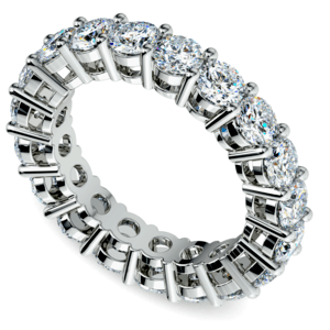 Diamond Eternity Ring in White Gold (4 ctw)