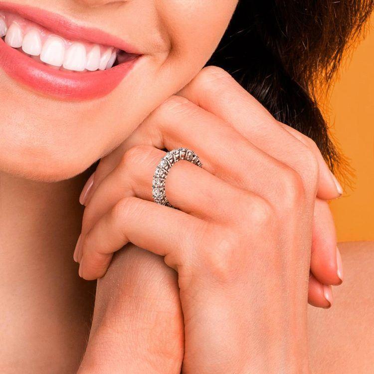 Diamond Eternity Ring in White Gold (4 ctw)   06