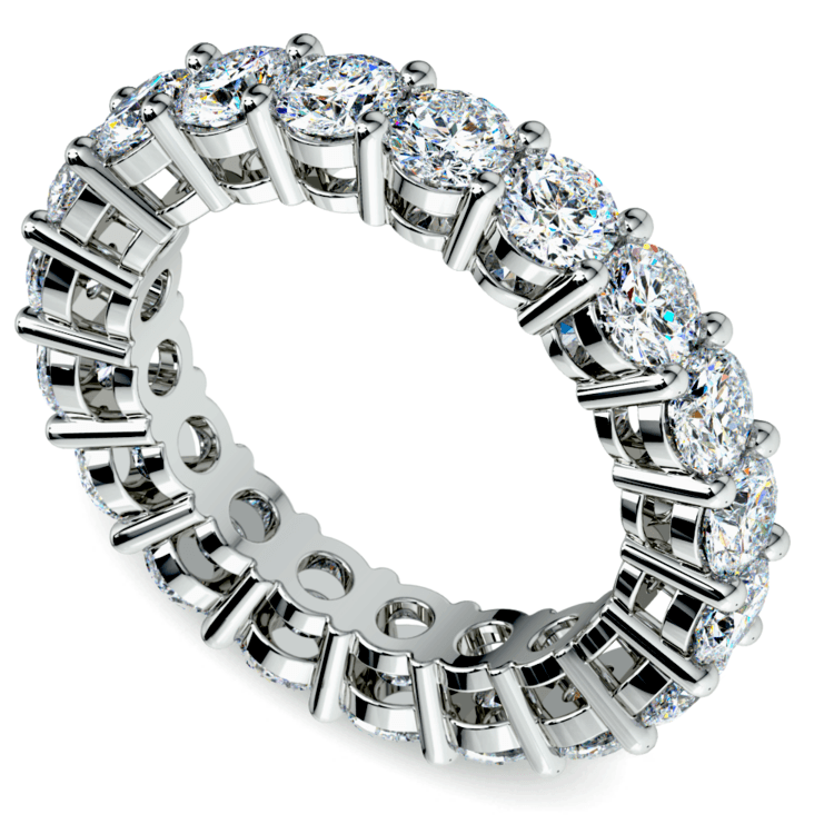 Diamond Eternity Ring in White Gold (4 ctw) | 01