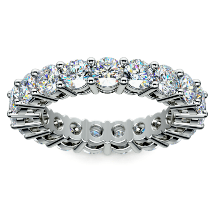 Diamond Eternity Ring in White Gold (4 ctw) | 02
