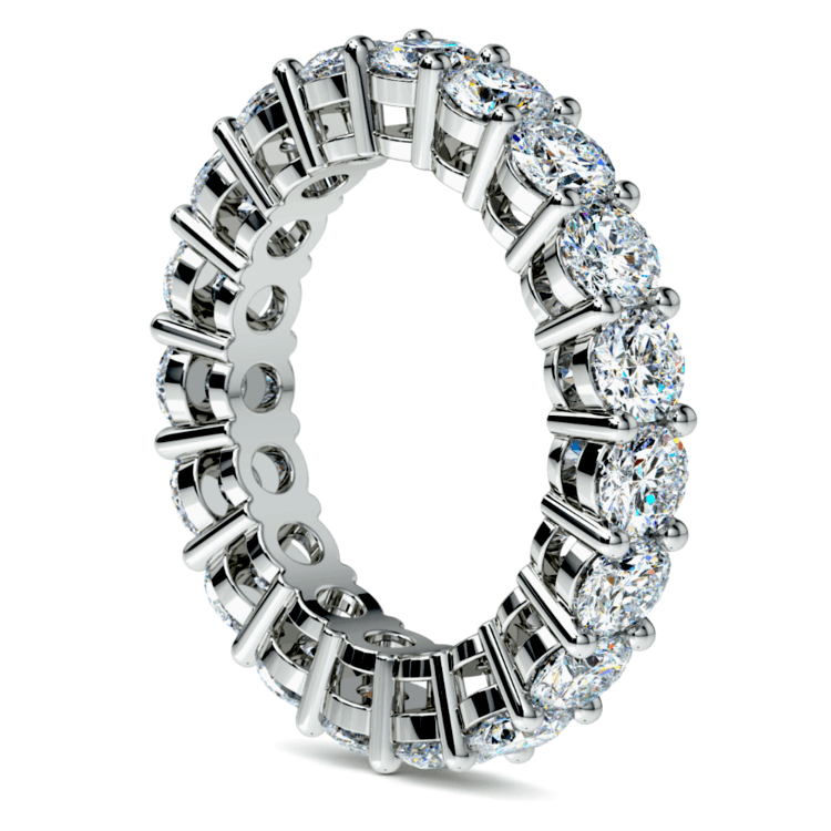 Diamond Eternity Ring in White Gold (4 ctw) | 04