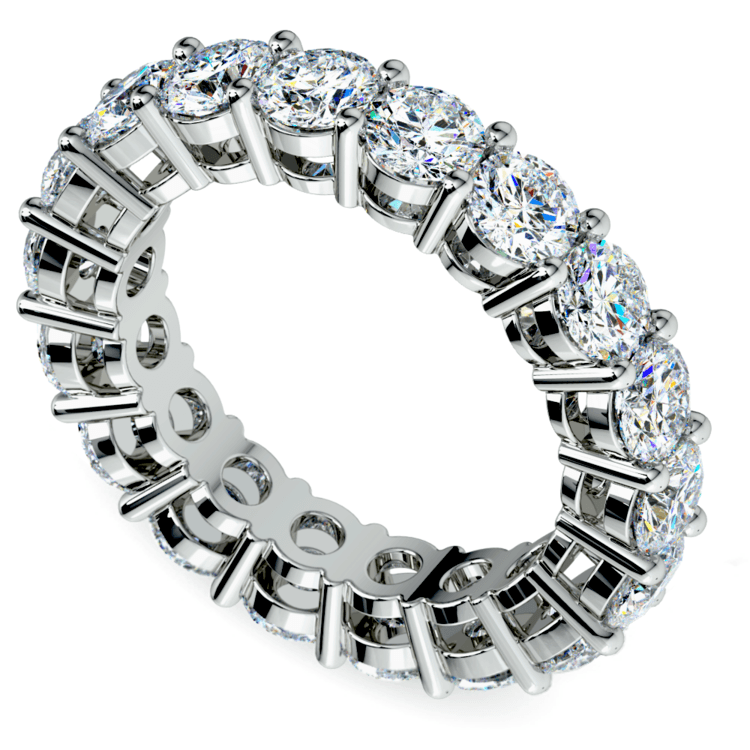 Diamond Eternity Ring in White Gold (5 ctw) | 01