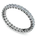 1 Carat Open Gallery Diamond Eternity Band In White Gold | Thumbnail 01
