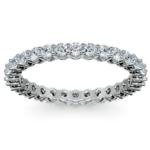 1 Carat Open Gallery Diamond Eternity Band In White Gold | Thumbnail 02