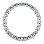 1 Carat Open Gallery Diamond Eternity Band In White Gold | Thumbnail 03
