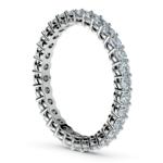 1 Carat Open Gallery Diamond Eternity Band In White Gold | Thumbnail 04