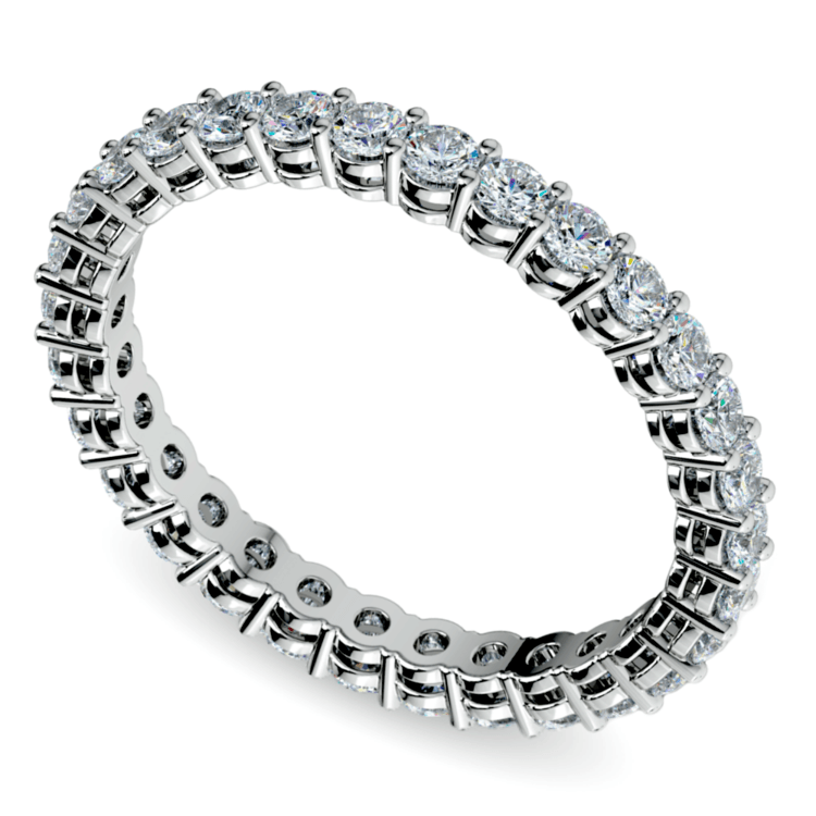 Diamond Eternity Band in White Gold (1 ctw) | 01