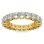Diamond Eternity Ring in Yellow Gold (4 ctw) | Thumbnail 02