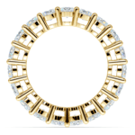 Diamond Eternity Ring in Yellow Gold (4 ctw) | Thumbnail 03