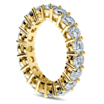 Diamond Eternity Ring in Yellow Gold (4 ctw) | Thumbnail 04