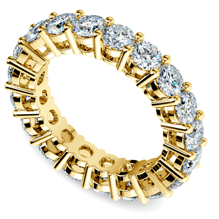 Diamond Eternity Ring in Yellow Gold (4 ctw) | 01