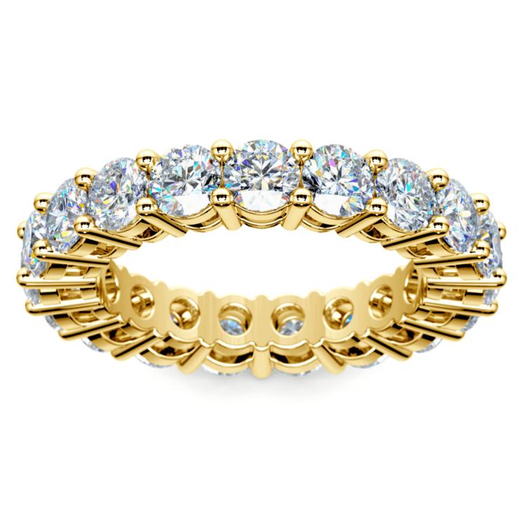 Diamond Eternity Ring in Yellow Gold (4 ctw) | 02