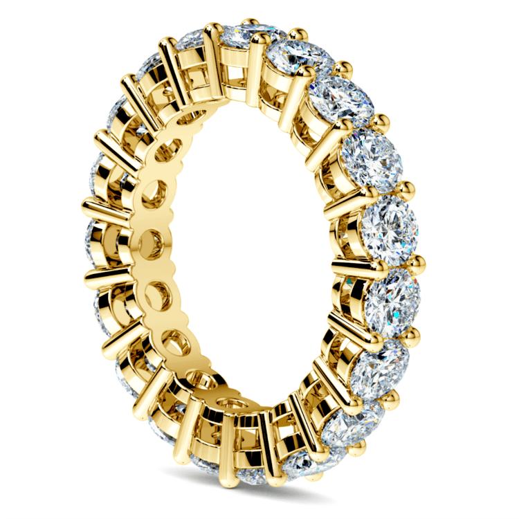 Diamond Eternity Ring in Yellow Gold (4 ctw) | 04
