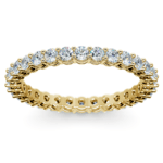 Diamond Eternity Band in Yellow Gold (1 ctw) | Thumbnail 02