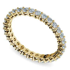 Diamond Eternity Band in Yellow Gold (1 ctw)
