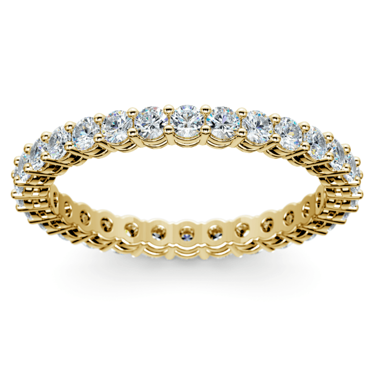 Diamond Eternity Band in Yellow Gold (1 ctw) | 02