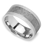 Star Crossed - Cobalt Mens Band with Meteorite Inlay | Thumbnail 01