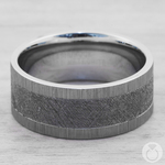 Star Crossed - Cobalt Mens Band with Meteorite Inlay | Thumbnail 04