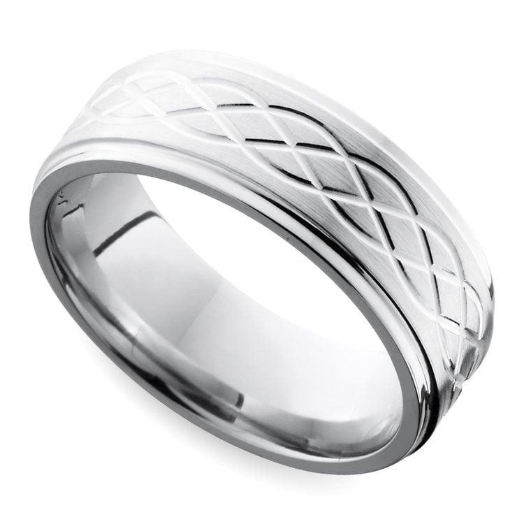 Step Edge Celtic Men's Wedding Ring in Cobalt (10 mm) | 01